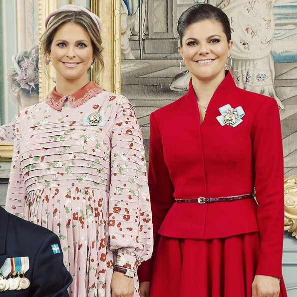 Crown Princess Victoria, Princess Sofia, Sara Hellqvist, Queen Silvia, Princess Madeleine Valentino dress and coat