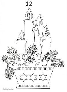 свечи в корзинке вытынанка