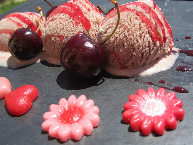 Helado de pikotas (Cerezas) con Thermomix