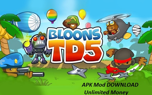 Download Bloons TD 5 MOD Unlimited Money free on Android Game