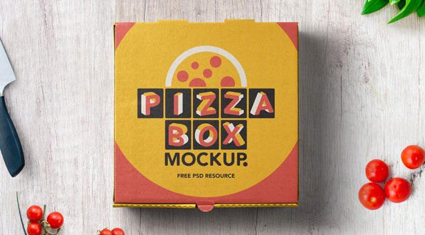 Gratis Mockup Packaging/Kemasan PSD 2018 - Pizza Box Mockup Packaging
