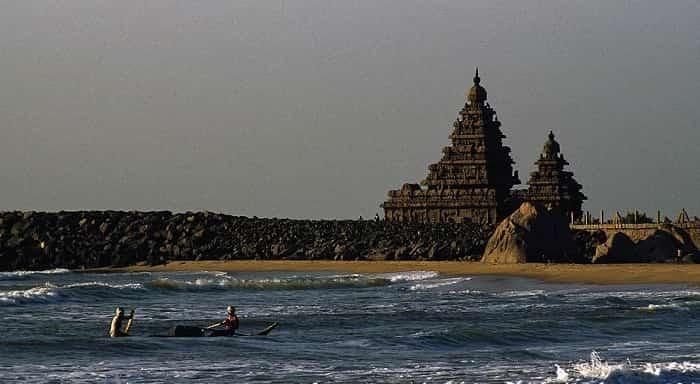 Mahabalipuram Beach in Tamilnadu