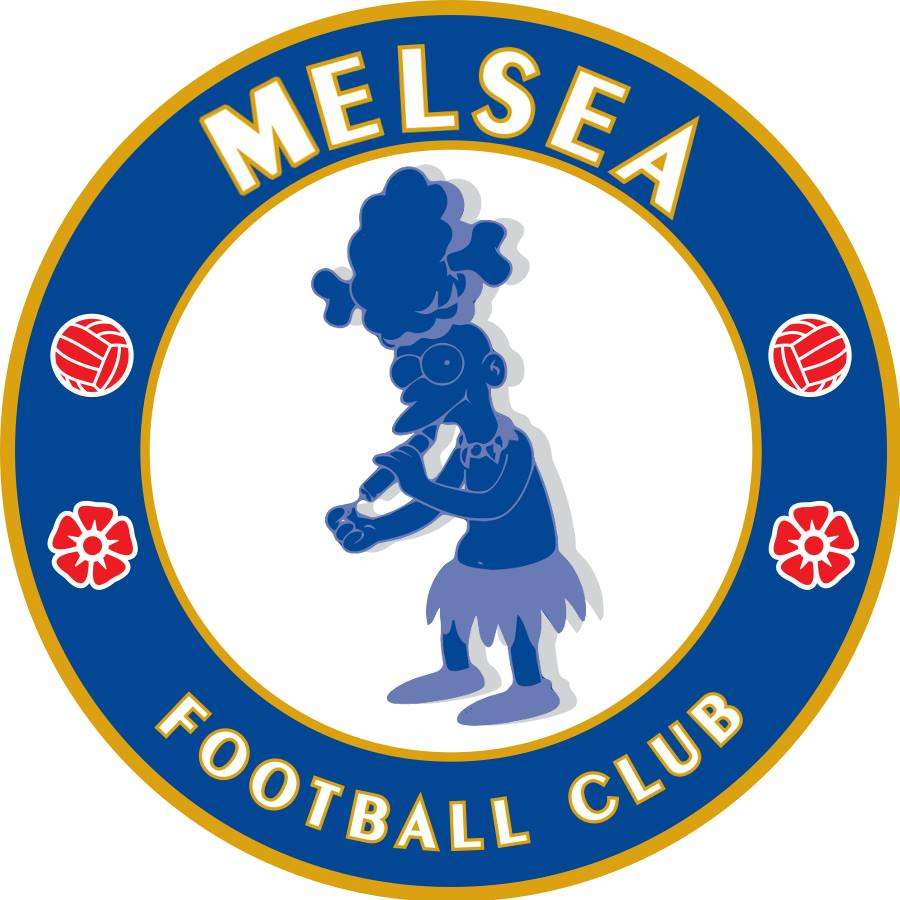 The Simpsons' version logo of Chelsea