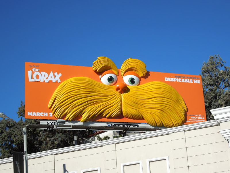 The Lorax face installation billboard