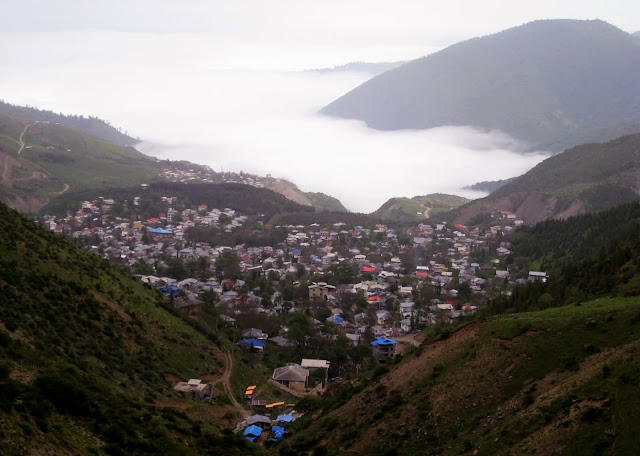The mountainous village of Javaher Deh in the north of iran.