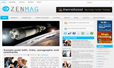 ZenMag - 16 Of The Best Free Blogger Templates