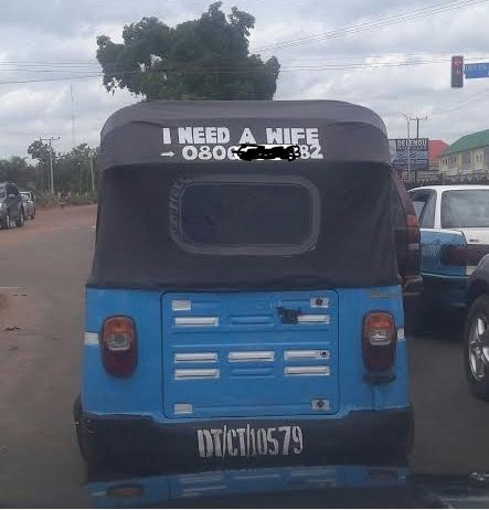 How A Keke Driver Advertised For A Wife