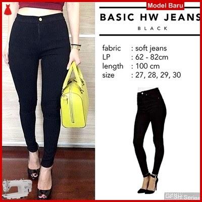 GFSH0119011 Setelan Hw Black Terbaru Jeans Highwais