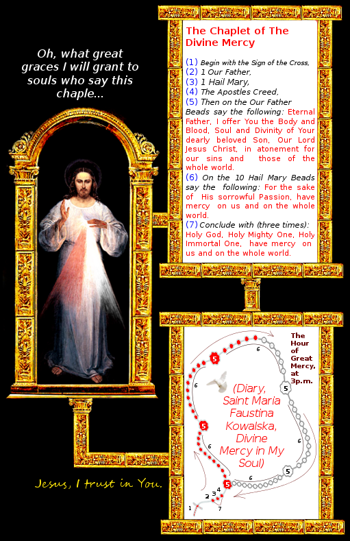 picture the chaplet of the divine mercy