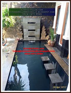 kolam koi dengan sistem filter bakki shower