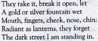 in the street of fruit stalls poem reference to the context explanation