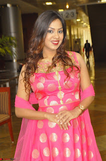 Sindhu Shivarama in Pink Ethnic Anarkali Dress 13.JPG