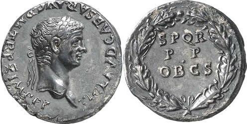 Denario de Claudio - 50-51 d.C. - RIC 54