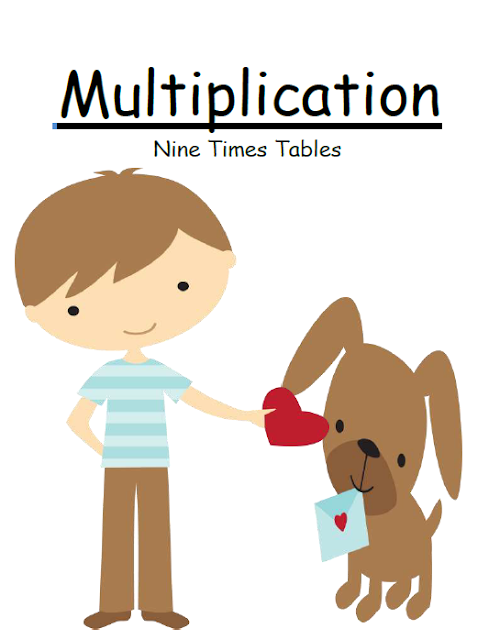 FREE! Fern Smith's Classroom Ideas St. Valentines Day Multiply By Nine Multiplication Center Game at TeacherspayTeachers.