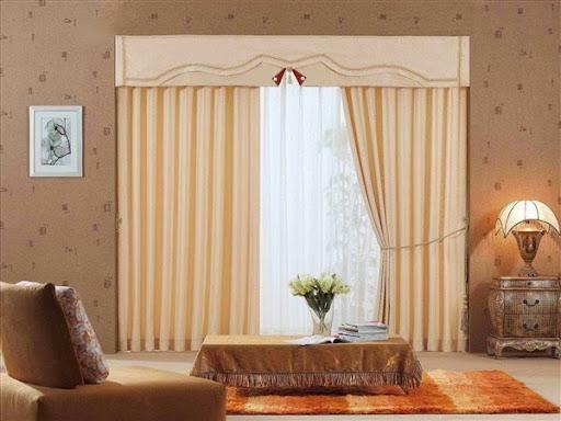tirai jendela rumah minimalis model besar