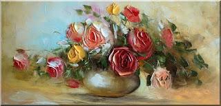 pinturas-de-flores-pintadas-cuadros-con-espatula