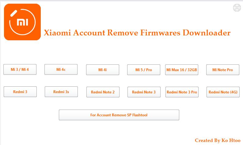 Mi Account Remove Firmware download | androidaljamali