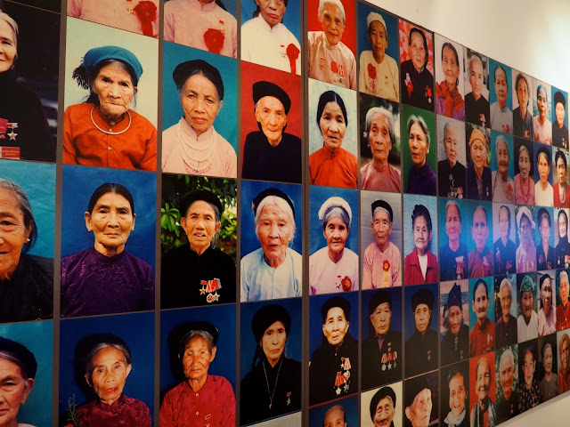 Portraits of Heroic Vietnamese Mothers in the Women's Museum in Hanoi, Vietnam