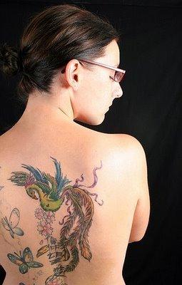 Sexy phoenix tattoo feminine