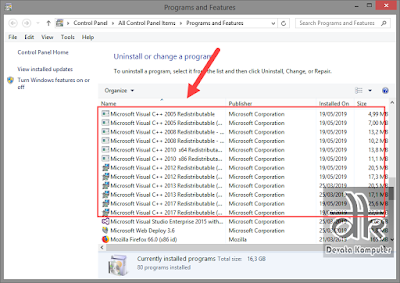 download semua versi microsoft visual c redistributable