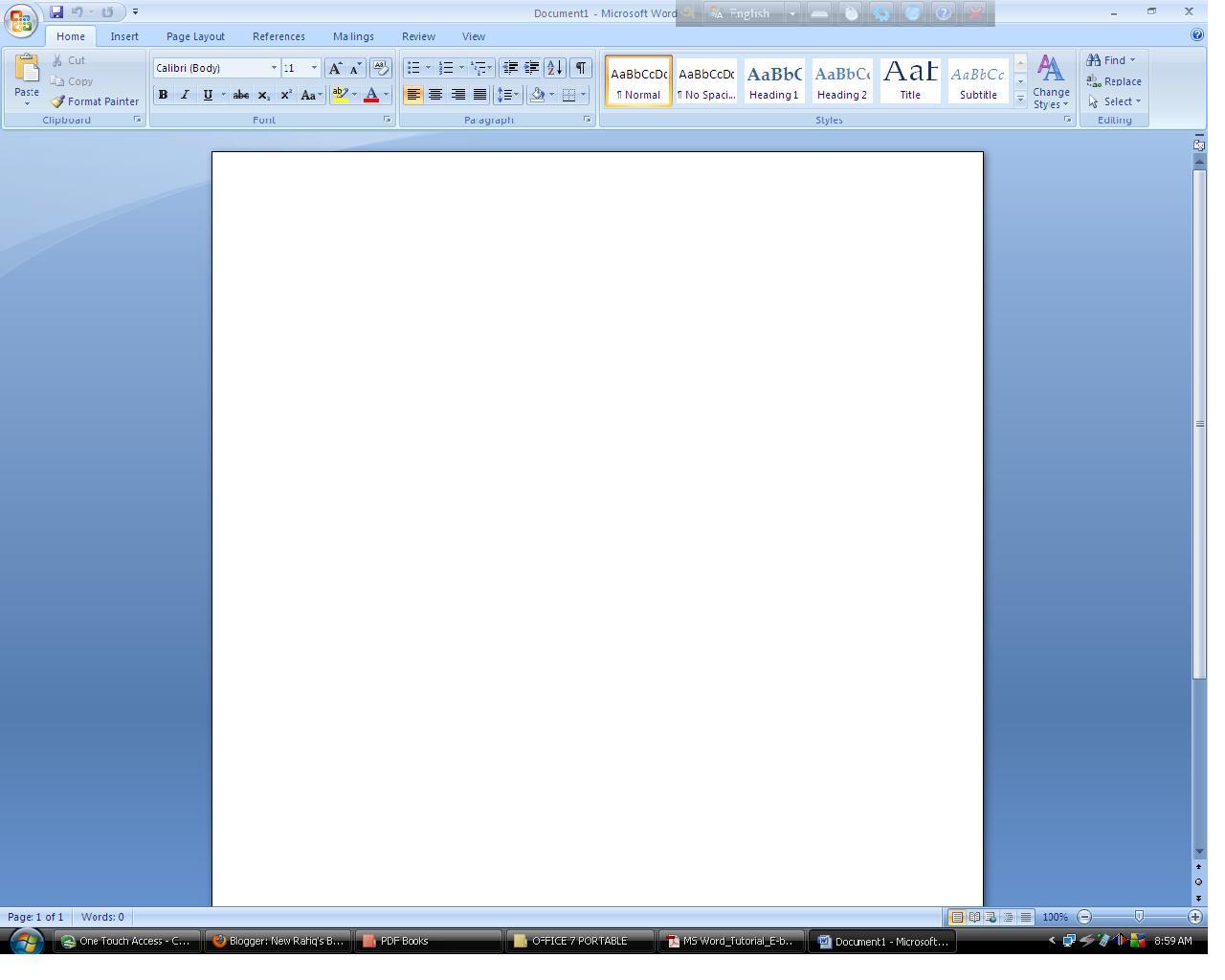 Microsoft Word Tutorial E-book in Bangla - Bangla pdf tutorial ebook