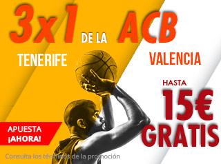 suertia promocion 15 euros Tenerife vs Valencia 17 noviembre