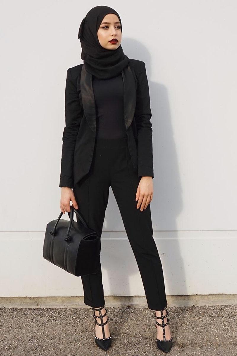 Resmi dan cantik abju hitam manis