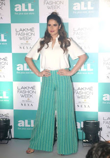 Zareen Khan at the Lakme Fashion Week Plus Size Model Auditions