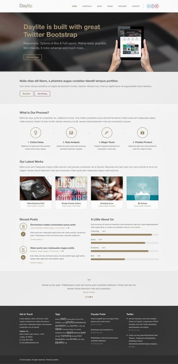 Daylite Free Homepage PSD
