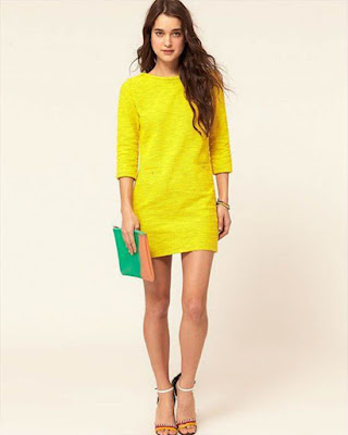 vestido amarillo corto de fiesta tumblr juvenil