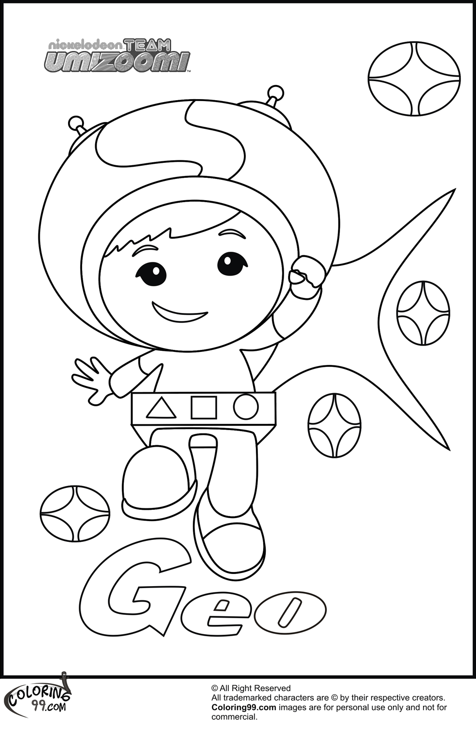 Team Umizoomi Coloring Pages Minister Coloring