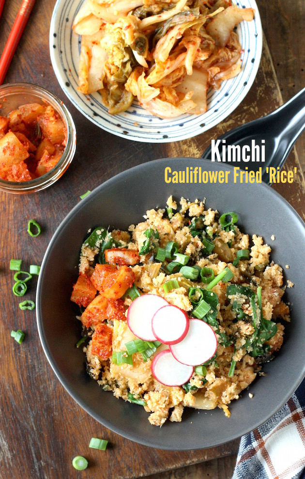 Kimchi Cauliflower Fried Rice by SeasonWithSpice.com