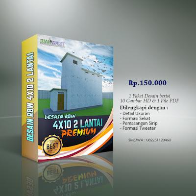 Desain Bangunan Walet 4x10 2 Lantai Premium