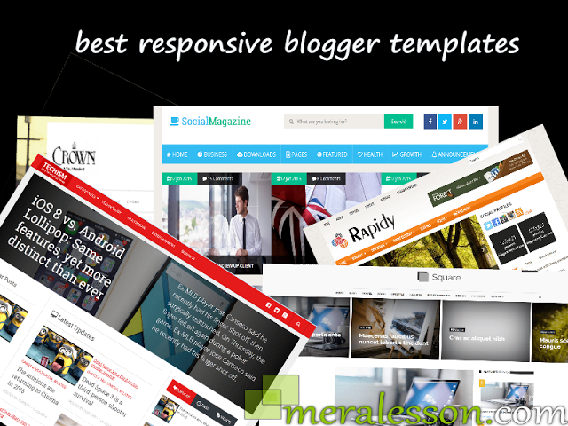 The Right Template For Blogger