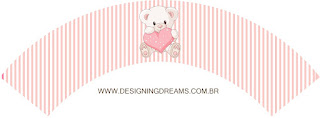 Bear Girl with Heart Free Printable Party Kit.