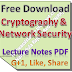 Cryptography and Network Security Notes PDF