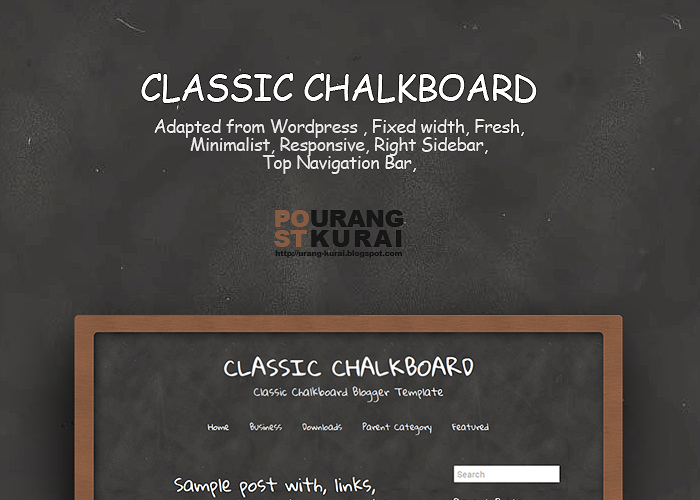 Classic Chalkboard Blogger Template