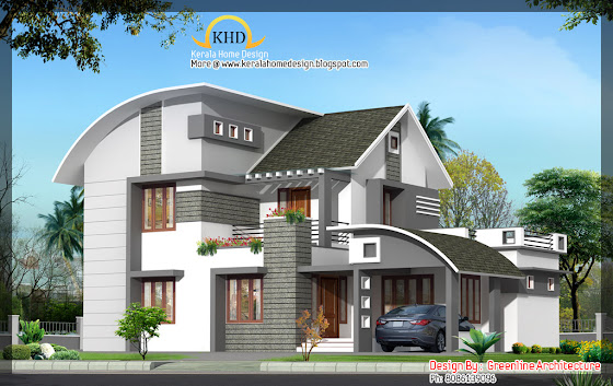 185 Square meters (2000 Sq. Ft) house elevation 3D