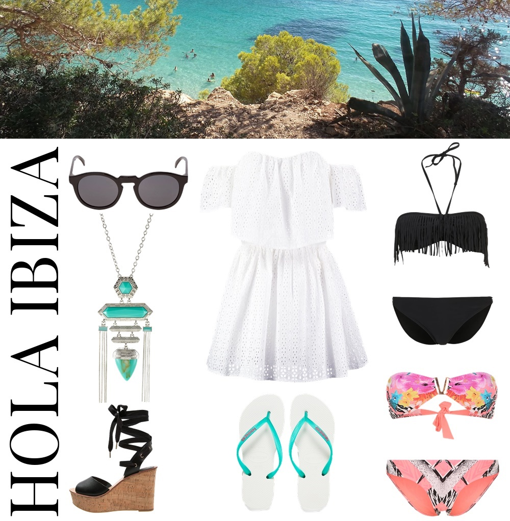 3 different Styles for 3 different vacation destinations... Hola Ibiza... perfect style for your Ibiza vacation