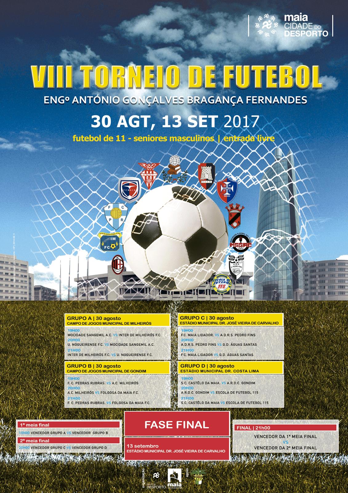 Últimas informações sobre o torneio de futebol sénior da Maia