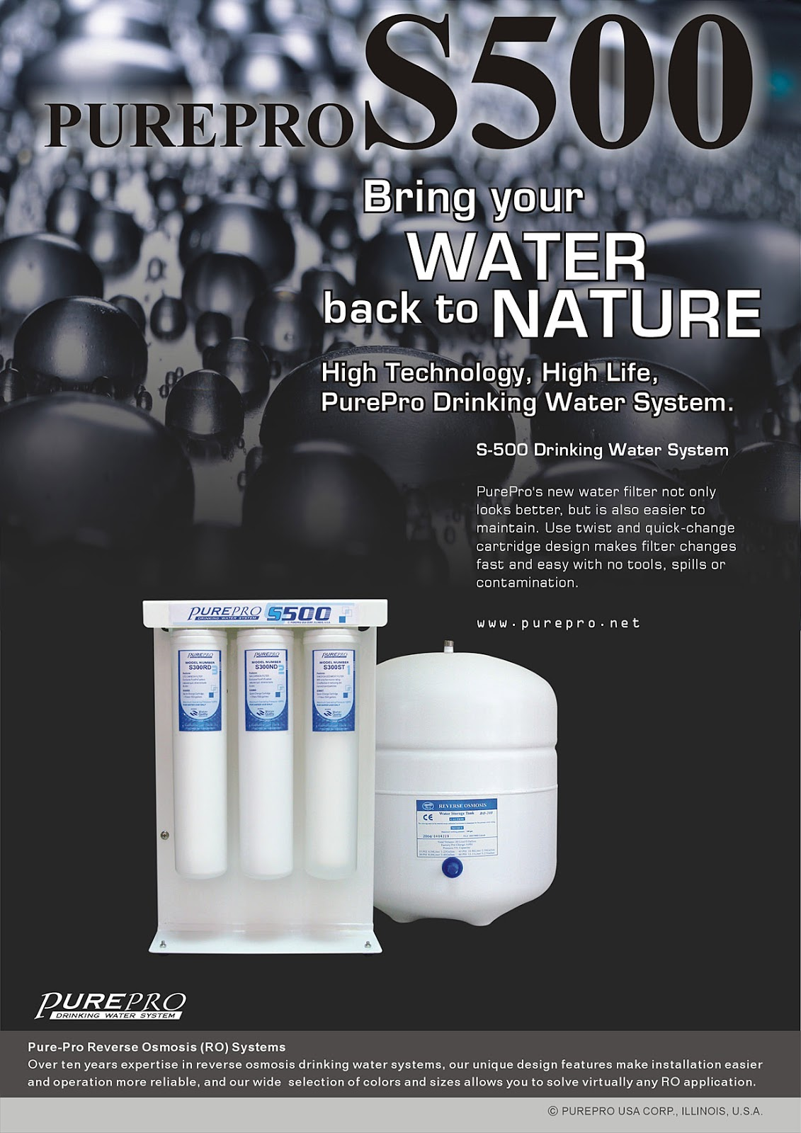 PurePro® S500 Reverse Osmosis Water Filtration System
