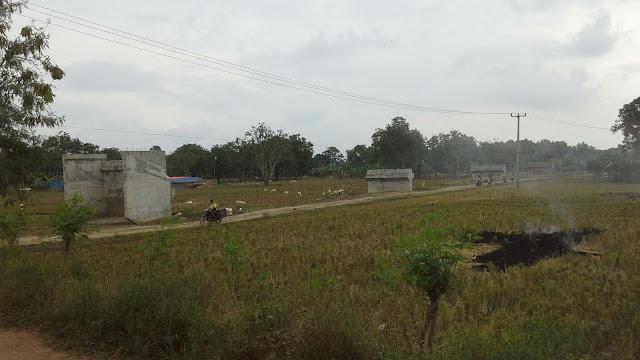 Jembatan permanen desa muara belum terselesaikan dan terbengkalai