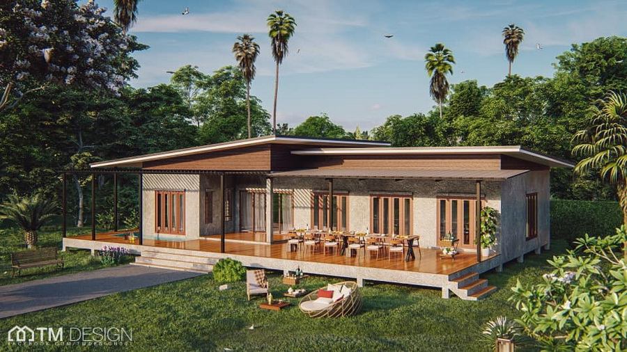 MyHousePlanShop: Single Story Modern House Design, 3 ...