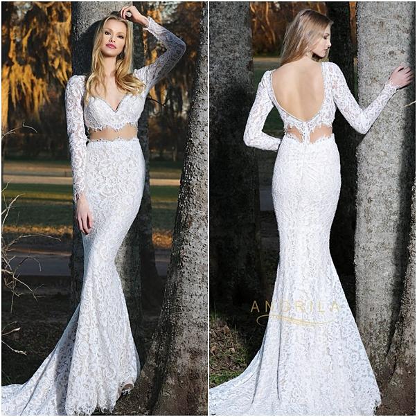 vestido de noiva cropped Angrila