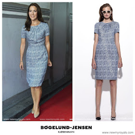 Crown Princess Mary Style SIGNE BEGELUND JENSEN Dress and JIMMY CHOO Pumps