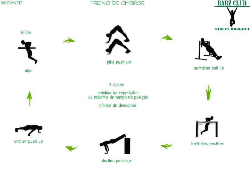 Amado Barz Club Street Workout: Street Workout Iniciante - Treino de Ombros MZ12