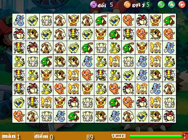 Game Pikachu Kawai 2003, 2004, 2005 - Xếp thú Pokemon a