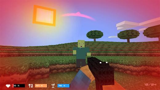 Cube Gun 3D Zombie Island