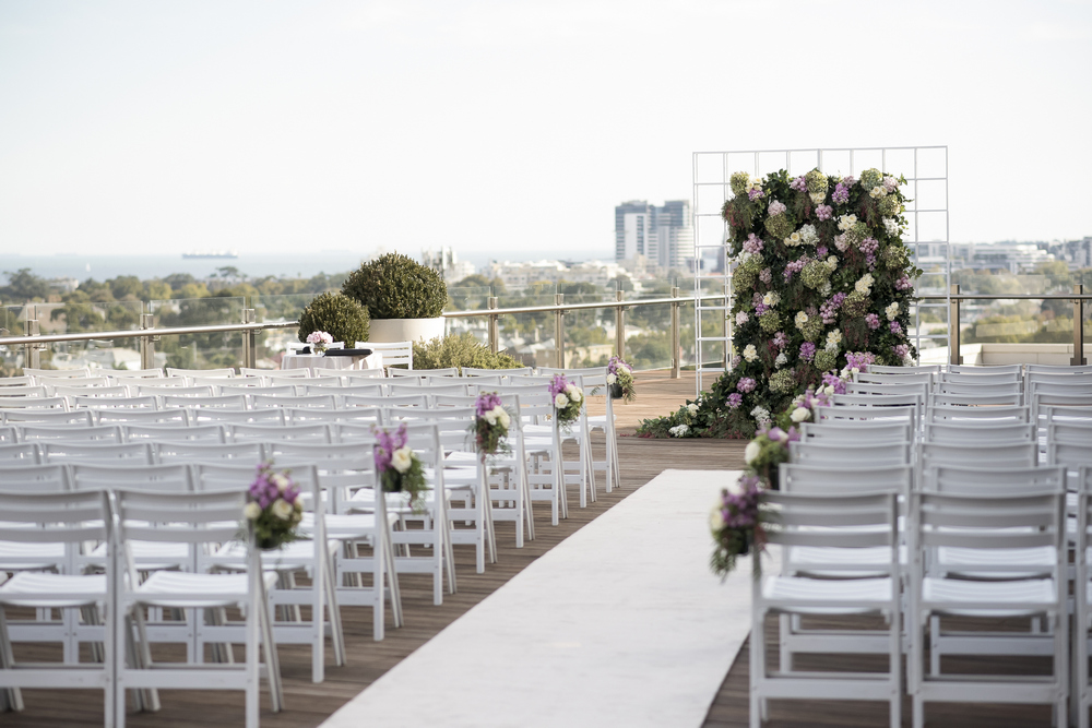 Modern Industrial Rooftop Wedding