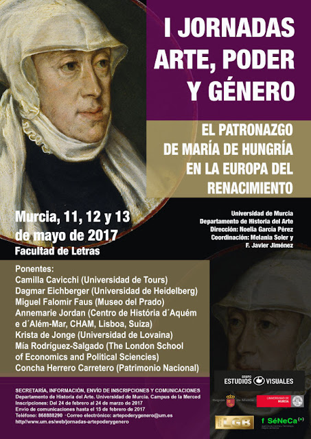 """Jornadas """"Arte, Poder y Género"""". El patronazgo de María de Hungría en la Europa del Renacimiento."""